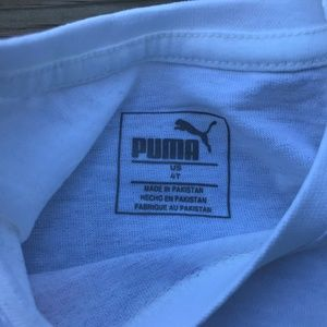 Puma Shirts & Tops - Puma Kids Girl Tee Top White Tee Shirt Size 4T US